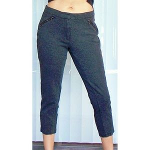 ADRIANNA PAPELL cropped capri skinny stretch pant